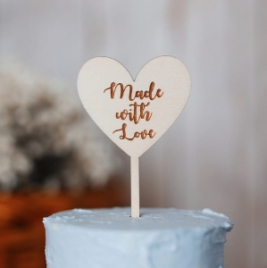 Mini topper - Made with Love